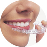 A woman that uses invisalign in Louisville, CO