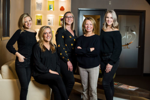 The Incredible Smiles team: Dr. Lori Kemmett, DDS; Dr. Alyssa Ellsworth, DDS; Anna Shockley, Gina Traugutt, hygienist, Miesha Sloat -assistant